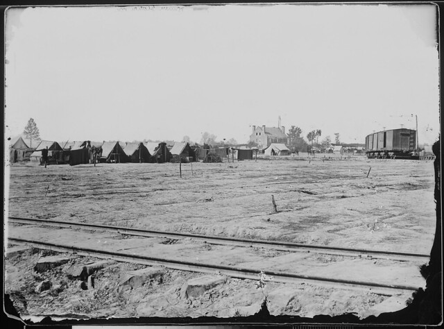 View of Confederate fort by The US National Archives