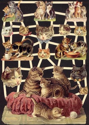 Victorian Cat Scrap Sheet