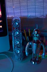 Harman/Kardon Soundstick II & Shiny Bender (monaalexandra) Tags: shiny figure bender speakers soundsticks harmankardon