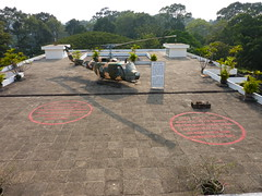 The roof of Reunification Palace, HCMC