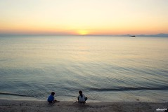 a big world lies ahead... (affacino) Tags: sunset sea sony malaysia alpha tani baru pasar sungai perlis a300 perlancongan