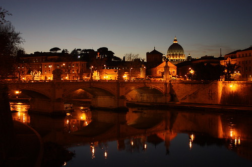 Vatican city by night