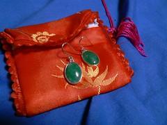 earrings & purse