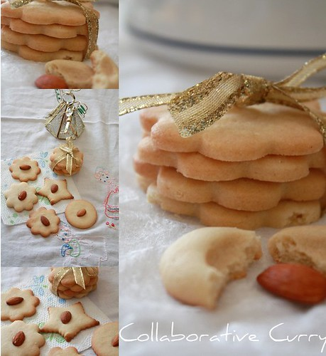 Cut cookies collage