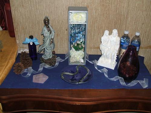 Healing Altar w/ St. Dymphna, Kwan Yin, Yemaya, Hygeia, and Asklepios