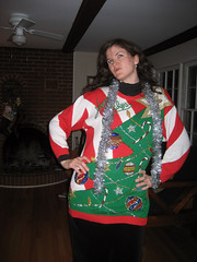 jane in her tacky christmas sweater