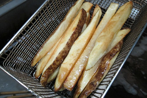 MB Post: Fries Emerging from the Deep Fryer