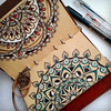 ✰ Featuring Татьяна ✰ -Explore @seredina.leta here and on... (flavoredtape) Tags: artterapy mandala mandalaart mandaladesign scetchbook zendala арттерапия блокнот зенарт зен