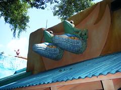 Gators & Frogs (BuccaneerBoy) Tags: hot water fun orlando asia florida may disney disneyworld wdw waltdisneyworld animalkingdom treeoflife lakebuenavista dinolandusa