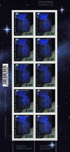 1994 (APOLLO 11 Bloc 25 ans hologramme Nouvelle-Zelande 1)