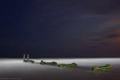 Old Dock in the Moon Light (Barry J. Schwartz) Tags: wood longexposure water canon pier waves 24l 5dmkii 5dmk2 barryjschwartzcom