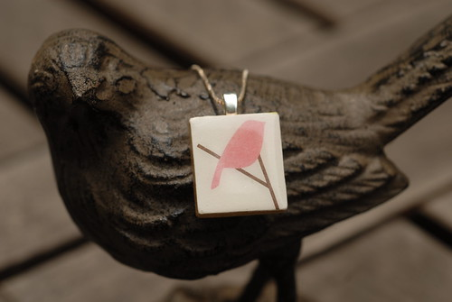 Pink Bird Tile