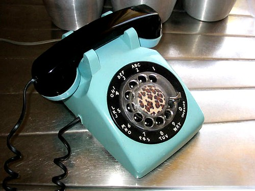 rotary phone by Casa de Dogpoop.