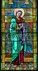 St. Philomena (*Jeff*) Tags: church window catholic stainedglass sword crownofflowers