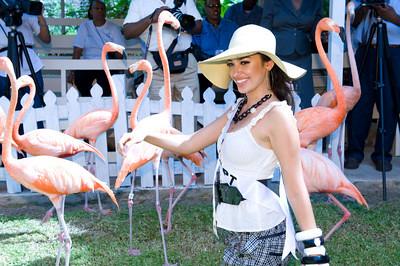 Elham Wagdi visits Ardastra Gardens Zoo
