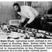 Boston Celtic Bill Russell Realizes Boyhood Dream of Elaborate Model Railroad Set - Jet Magazine, March 13, 1958