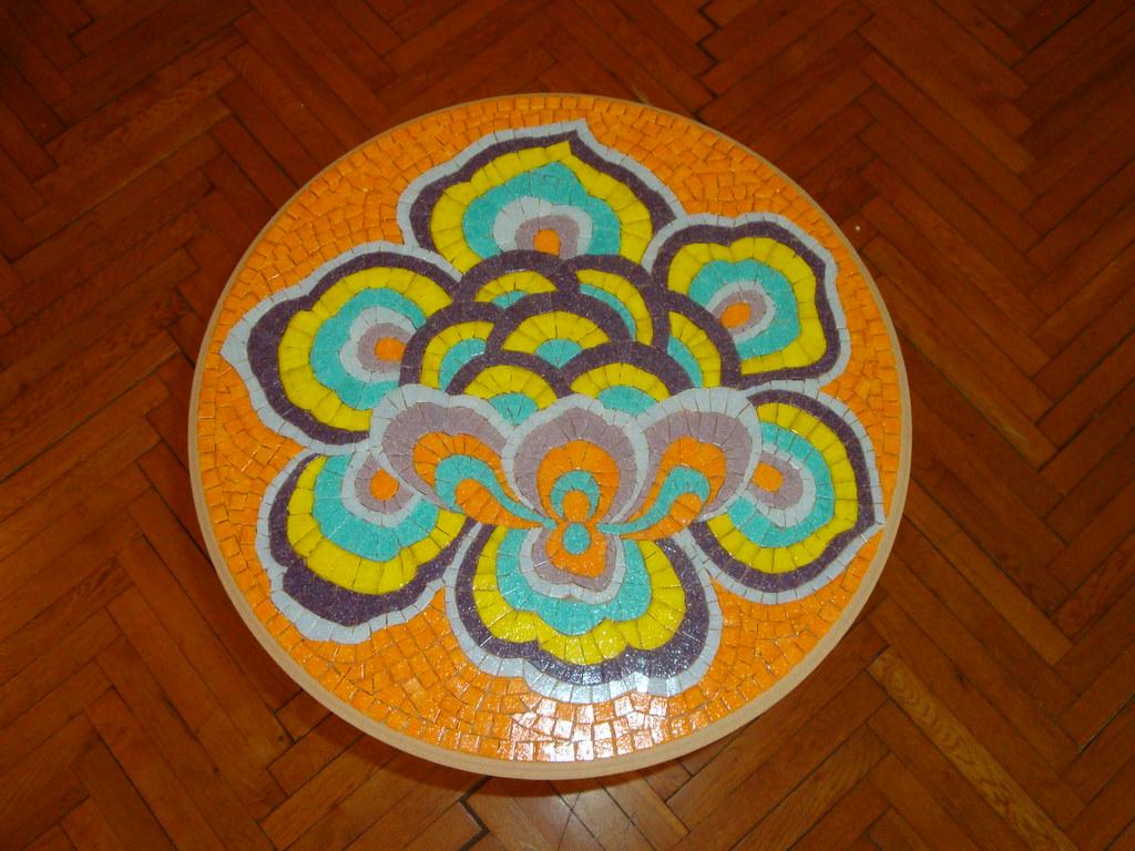 Mosaic coffee table 2 WIP8
