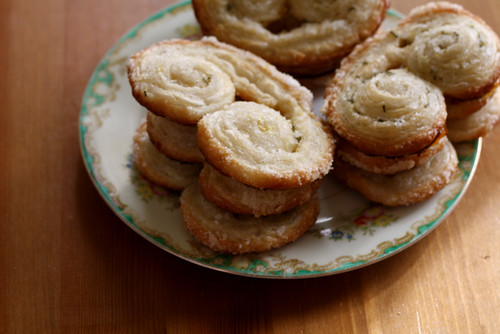 Lemon Rosemary Palmiers