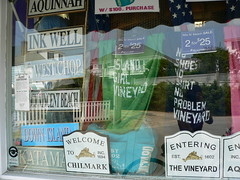 Martha's Vineyard Store signs