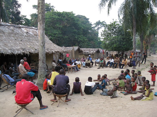 A meeting with the population of Ngondo