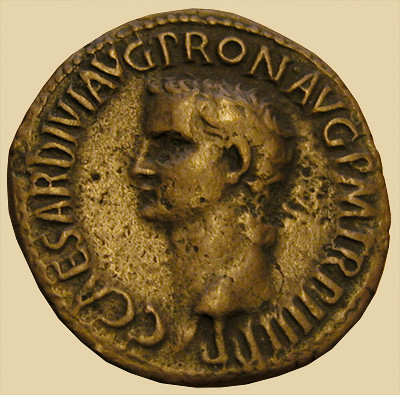 dated 41 A.D.  Caligula Vesta As-RIC 38