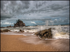 Beach Wallpaper (borlock) Tags: sea beach nature rock sand hdr highdynamicrange hdrphotography naturewallpaper beachwallpaper hdrbeach hdrwallpaper