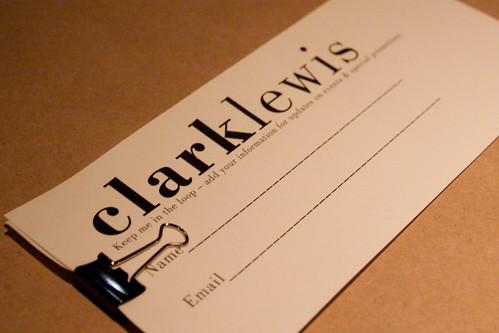 clark lewis for dinner!