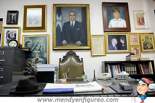 Esta era la oficina donde recibia a sus visitantes, tanto locales como internacionales