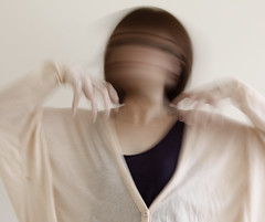 Rush (debbie.liane) Tags: motion blur movement beige hands purple fingers claw rush cardigan batwings debbieliane