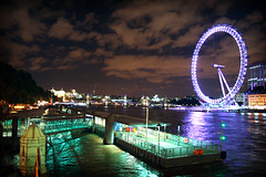 IMG_6485 (mariacaridad) Tags: uk longexposure england man london eye wheel thames architecture night river photography evening pier dock europe long exposure britain united famous great central structures landmarks kingdom millenium ferris tourist made merlin gb manmade largest attractions docking waterscape brittain entertainments