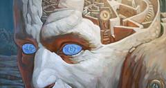 Laberinto personal (Gabriel Horcajada Ruiz) Tags: blue azul eyes paint personal ojos cabeza perspectiva humano oleg cerebro pintura exposicin laberinto mirades tsyganyuk