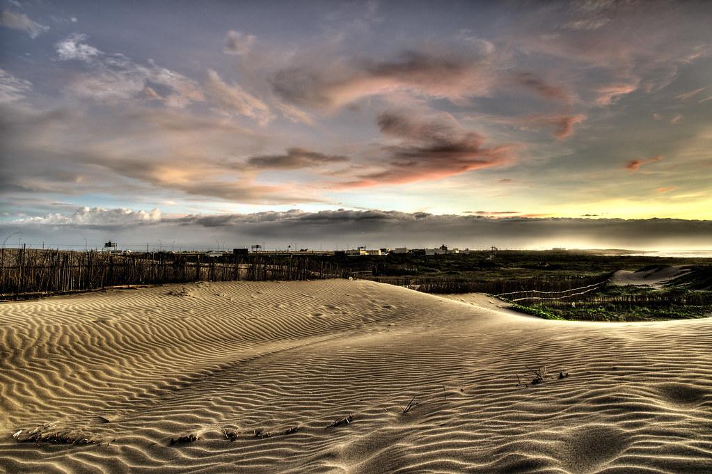 竹圍漁港沙丘