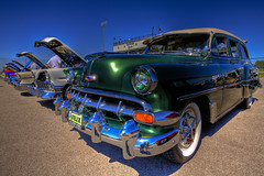 54Beauty1 HDR (hz536n/George Thomas) Tags: autumn green fall chevrolet oklahoma wagon 1954 september chevy perkins canon5d 2009 hdr stationwagon smrgsbord cs3 photomatix ef1740mmf4lusm perkinscarshow hz536n