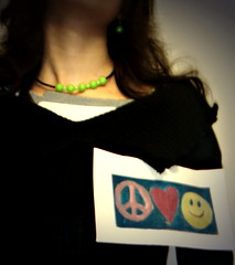 I have PEACE,LOVE & SMILE in my heart (Azadeh Alizadeh) Tags: green love smile war peace heart    explored    azadehalizadeh