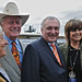 Mr & Mrs Larry Hagman JR  Bertie Ahearn & Linda Grey Sue Ellen at Punchestown Races Kildare Ireland