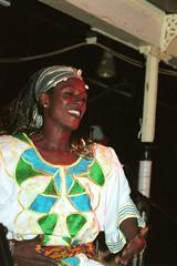 Mac Tontoh Project from Ghana at the Africa Centre London July 2001 042 dancer (photographer695) Tags: world africa from 2001 music london mac african centre band july jazz ghana warriors ashanti kete trumpeter amanas osibisa tontoh nanaeba exosibisa
