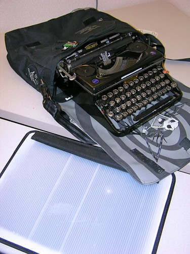 Stealth typewriter/laptop bag