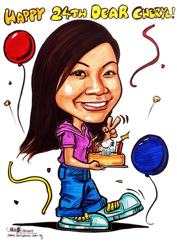 Birthday caricature 061009