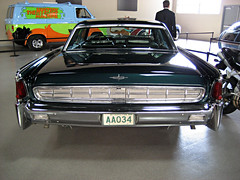 1965 Lincoln Continental (pr0digie) Tags: classic car vintage movie studio tour rear continental wb vip lincoln prop warnerbros thematrix backlot