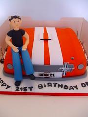 Car bonnet (CAKE Chester) Tags: birthday blue red white black cake chester corvette