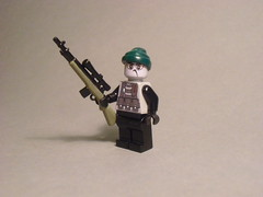 Aim for the head (Exxtrooper) Tags: red 2 black green dark for nice lego head olive headshot camo sniper aim decal ba minifig custom bullets camoflauge decals sniping snipe uncharted exx brickarms exxtrooper