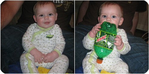 sitting up and mt.dew