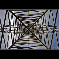 Pattern my Life (horstmall) Tags: sky abstract vertical geotagged grid iron pattern power steel himmel cage x symmetry pole ciel electricity powerline mast kfig strom muster fer highvoltage kraft gitter abstrakt stahl eisen hochspannungsleitung symmetrie vertikal electricit stahlkonstruktion steelconstruction 110kv senkrecht xshaped xform kilovolt horstmall lotrecht xfrmig geo:lat=48585554 geo:lon=9599438