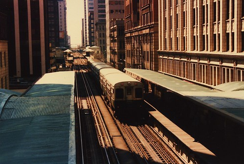 CTA 6000 series rapid transit car fantrip. Chicago Illinois. April 1986. by Eddie from Chicago
