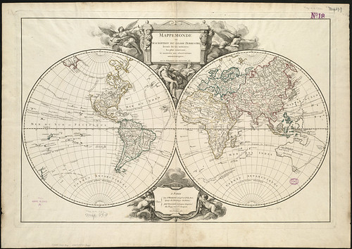 Mappemonde ou Description du globe terre by Norman B. Leventhal Map Center at the BPL, on Flickr