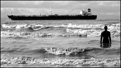 Crosby #5 (Francesco Baldiotti) Tags: sea bw blackwhite mare biancoenero crosbybeach olympuse410 theauthorsplaza theauthorsclub