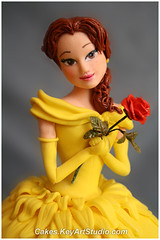 Princess Belle Cake (Beauty and the Beast) (Cakes.KeyArtStudio.com) Tags: beauty cake doll princess montreal barbie disney belle beast figurine larissa beautyandthebeast fondant dollcake volnitskaia sweetdesignsbylarissa keyartstudio