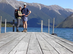 Axel and Alex at Lake Rotoiti