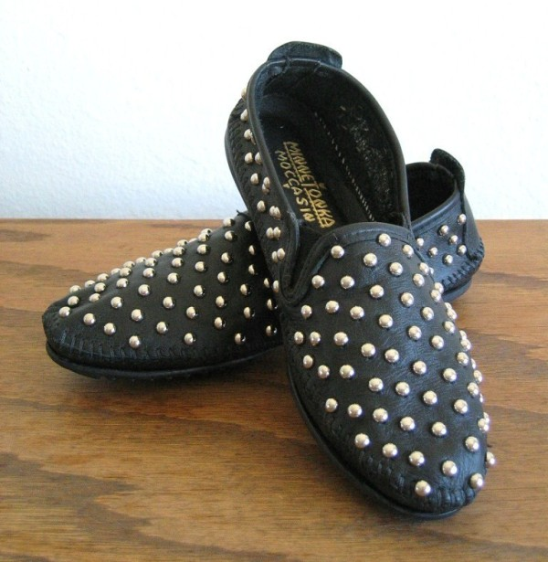 DIY fashion TwoStringJane studded shoes