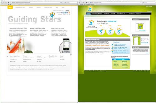 GuidingStars.com new site v. old site